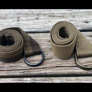 Accessories - ⚠️Men's Canvas Fabric D-Ring belts⚠️
